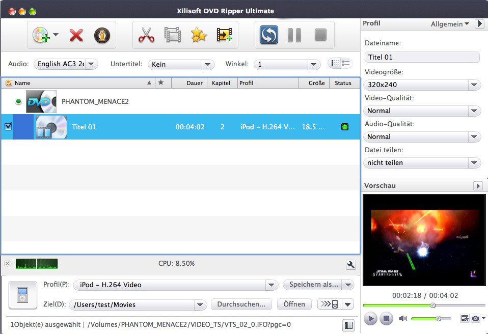 Xilisoft DVD Ripper para Mac