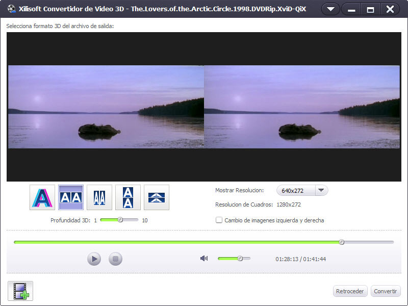 Xilisoft Convertidor de Video 3D - Screenshot