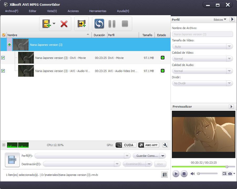 Xilisoft Convertir AVI en MP4