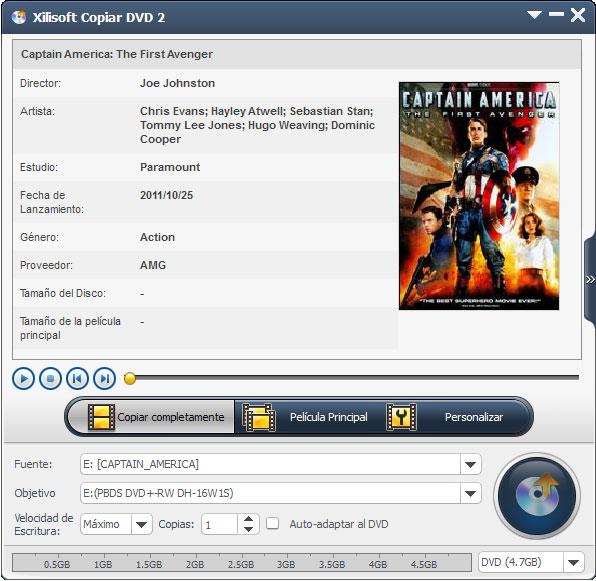 Xilisoft Copiar DVD- Screenshot