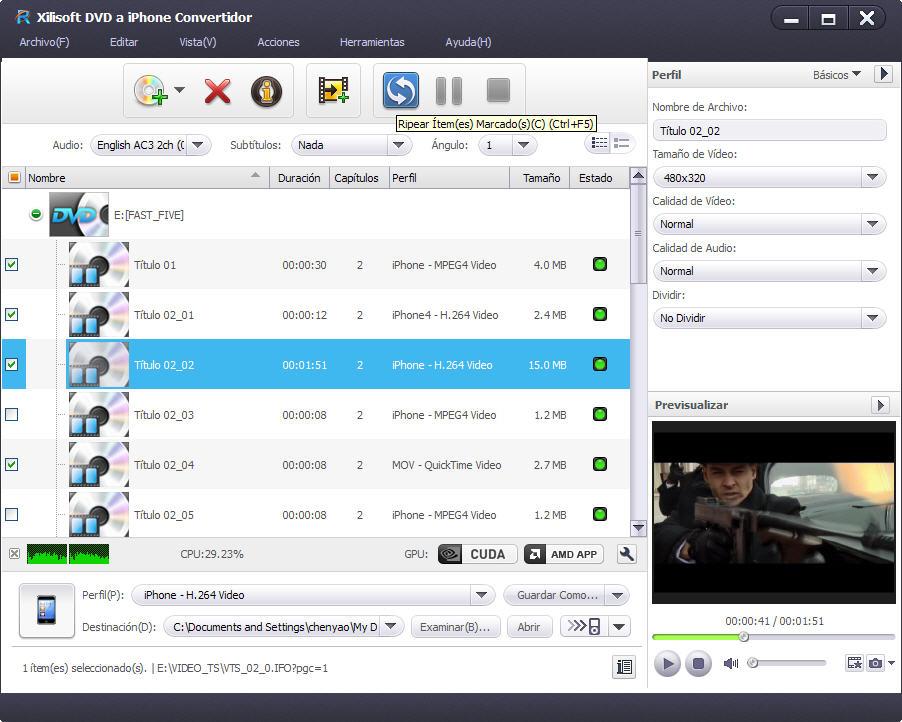 Xilisoft iPhone a DVD Convertidor