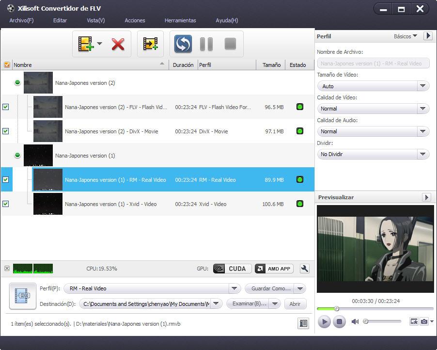 convertir flv video