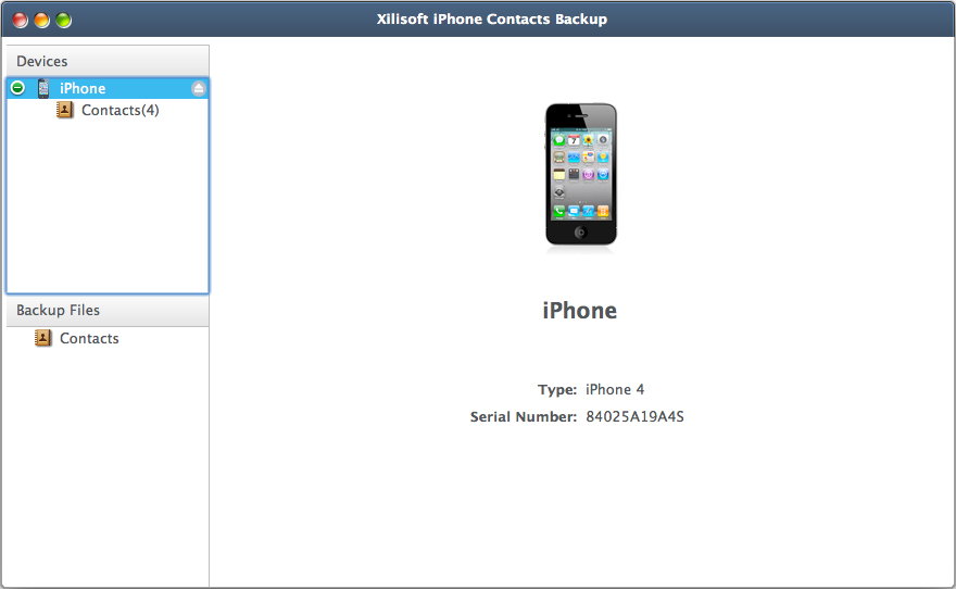 Xilisoft iPhone Respaldo de Contactos  Mac