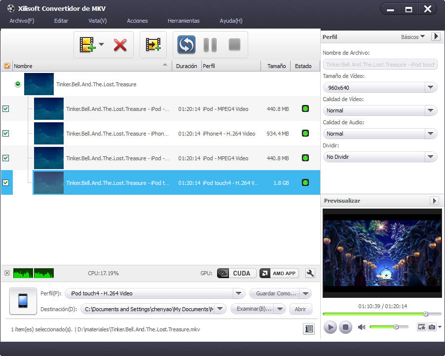 Xilisoft Convertir MKV en MP4