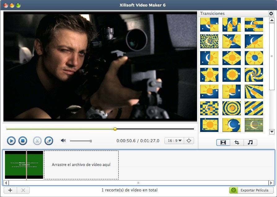 Xilisoft Movie Maker Mac 6 - Screenshot