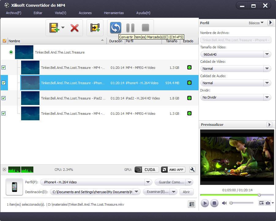 Xilisoft Convertidor de MP4