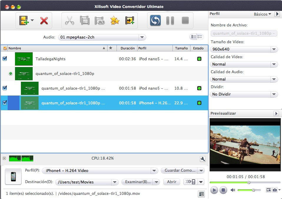 Xilisoft Video Convertidor para mac